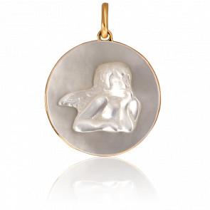 Medalla Ángel Rafael Nácar y Oro Amarillo 18K