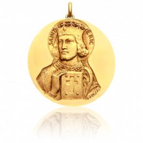 Medalla San Eric oro amarillo 18K