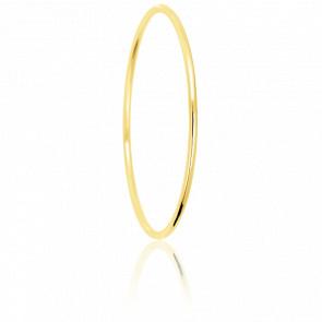 Pulsera de Caña Circular diámetro 55 mm (17.2 cm), maciza oro amarillo 18 kt