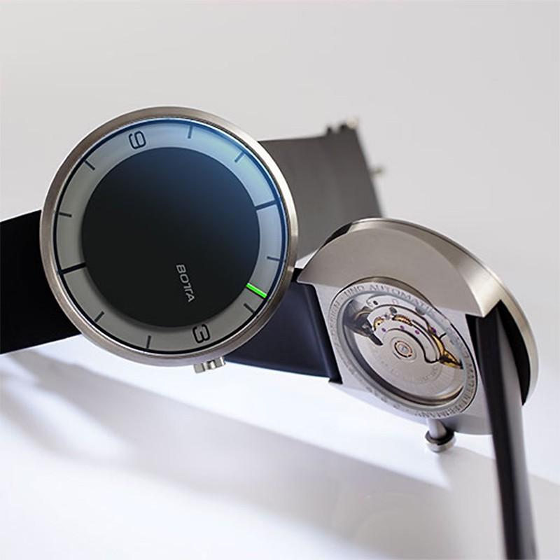 Ocarat Reloj Automático Design Negro Botta SUqMpzV