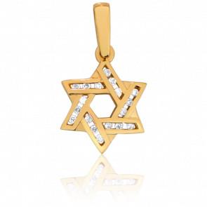 Colgante Estrella de David Diamantada, Oro amarillo