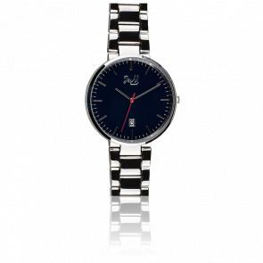 Reloj J&M Silver Steel Blue