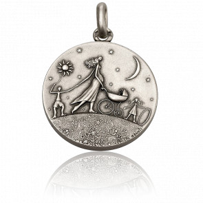 Medalla Circular de la Vida Plata