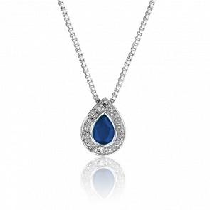 Collar Gota Zafiro & Diamantes