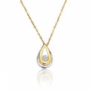 Collar Gota Doble Oros & Diamante