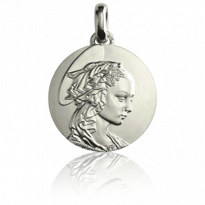 Medalla Madona de Filippo Lippi 18 mm Plata