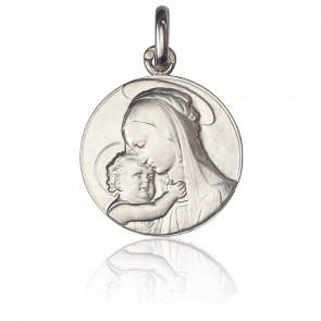 Medalla Virgen de Botticelli Plata