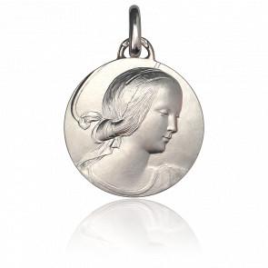 Medalla Virgen de Milán 18 mm Plata