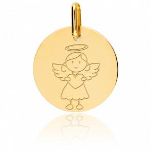 Medalla Ángel chica, Oro Amarillo 9k