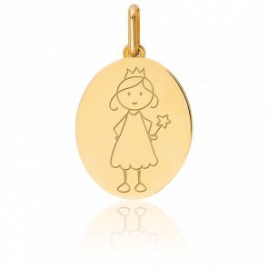 Medalla Hada Oro amarillo 9k