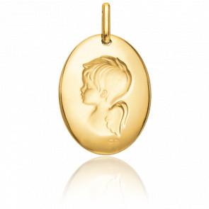 Medalla Angelote oro amarillo