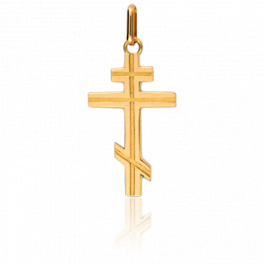 Colgante Cruz Ortodoxa 15 x 23 mm Oro Amarillo 18K