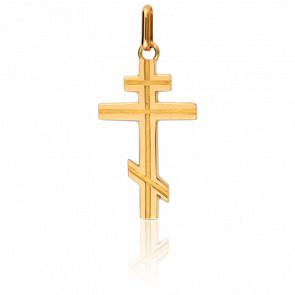 Cruz Ortodoxa Oro amarillo