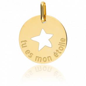 Medalla Mi estrella Oro Amarillo 9k