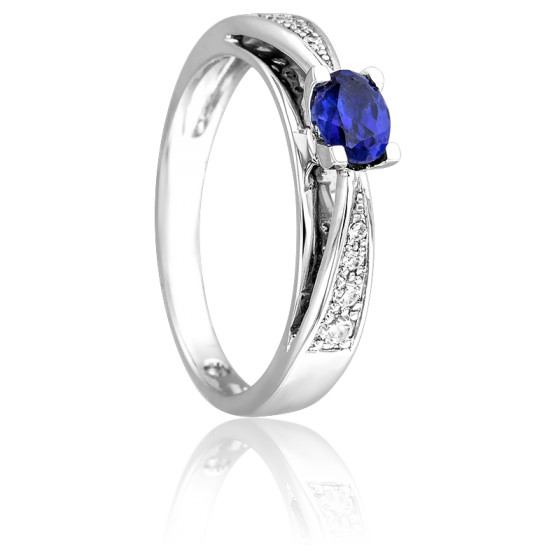 3581d2921dbc Anillo Zafiro Oro y Diamantes - Ocarat