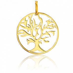 Colgante Árbol de la Vida Chapado Oro Amarillo