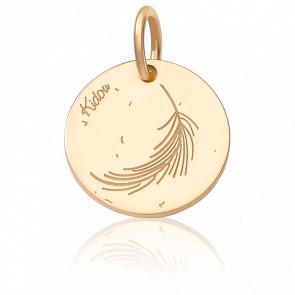 Medalla Pluma Oro Amarillo 18K