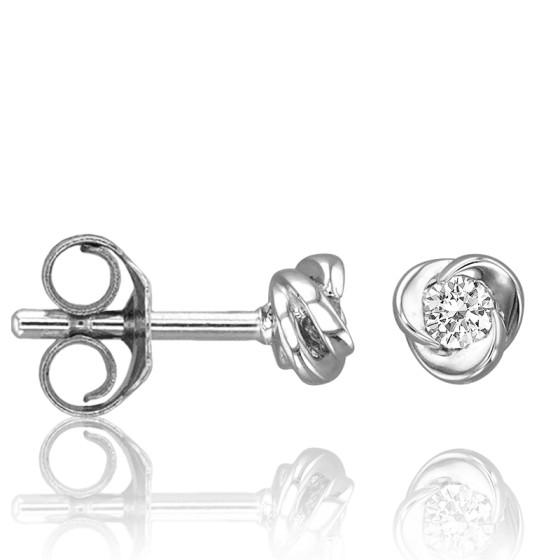 d4f5156531af Pendientes de oro blanco con diamantes Rosa - Joelli - Ocarat