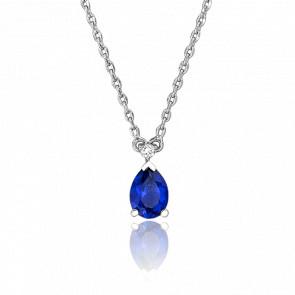 Collar Gota Azul & Diamante