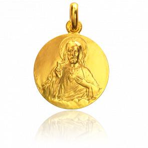 Medalla Sagrado Corazón de Jesús Oro Amarillo 18K