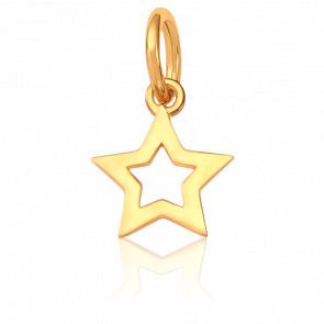 Colgante Estrella Oro Amarillo 18K