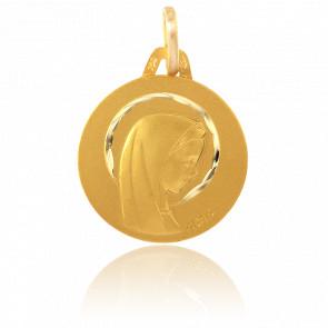 Medalla Virgen con Aureola Oro Amarillo