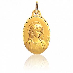 Medalla Virgen María facetada