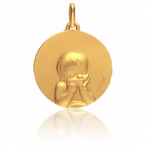 Medalla Niño Oro Amarillo