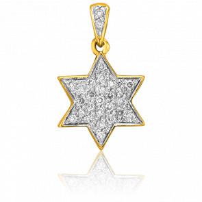 Colgante Estrella de David Oro Amarillo & Diamantes