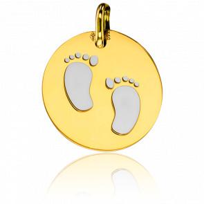 Colgante Pequeños piececitos & Oro Amarillo 18K