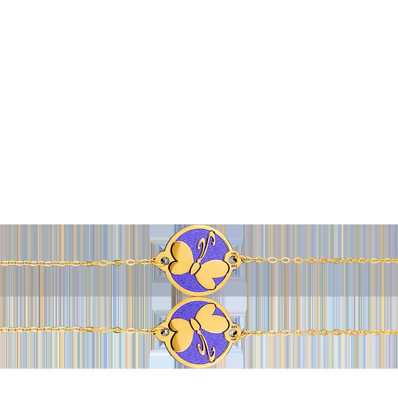 a1e82785ce8f Pulsera de oro amarillo acero azul Mariposa-Lucas Lucor - Ocarat
