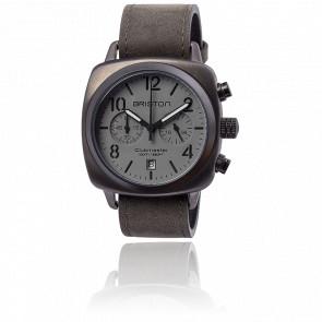 Reloj Clubmaster Crono Fecha Grey Classic Acero Trendsetter