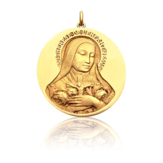 50900482183 Medalla de oro 18kt Santa Teresa de Lisieux - Becker - Ocarat