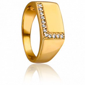 Anillo Elsa Oro AMarillo & Diamantes
