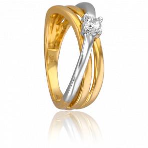 Anillo Petunia 2 Oros & Diamante