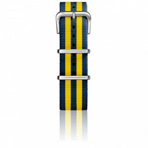 Correa Nylon Tipo Nato 20mm Navy/Yellow Cierre Acero