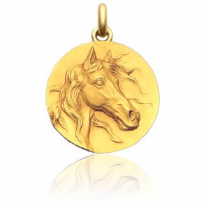 Medalla Caballo Oro Amarillo 18K