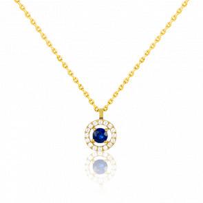 Collar Alaverdi Oro Amarillo & Zafiro