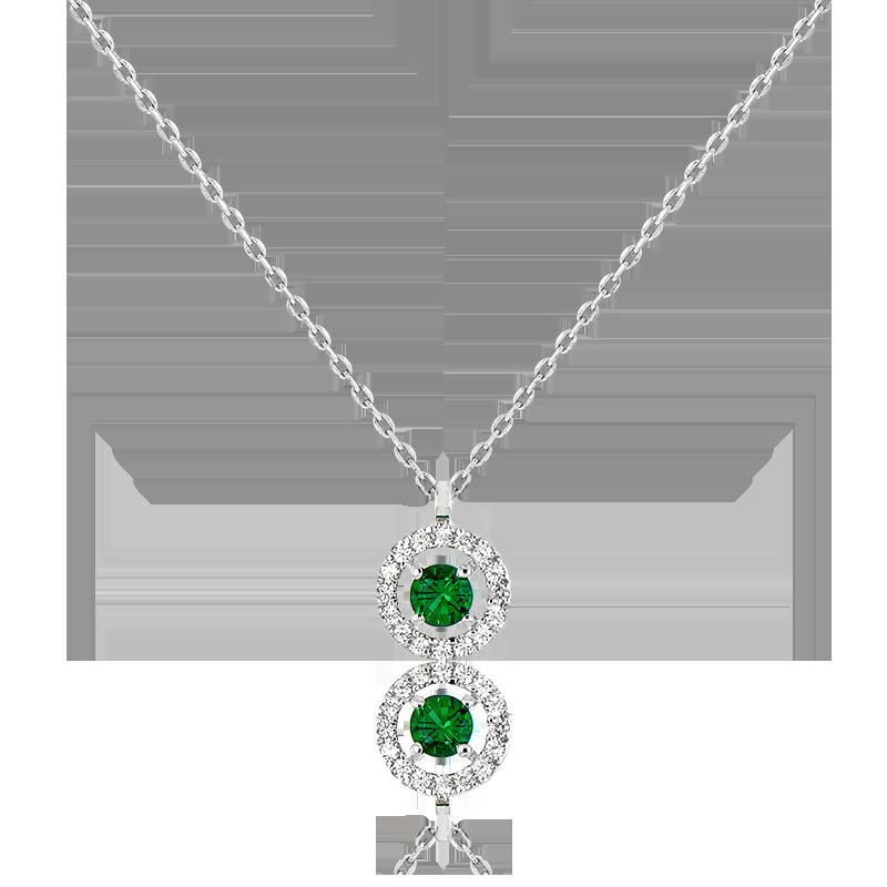 386857a3a157 Diamond Lady Collar Alaverdi Oro Blanco   Esmeralda