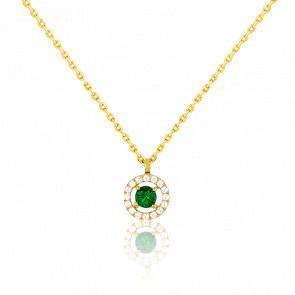 Collar Alaverdi Oro Amarillo & Esmeralda