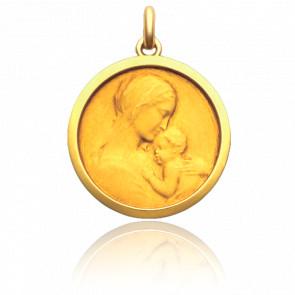 Medalla Alma Mater Oro Amarillo 18K