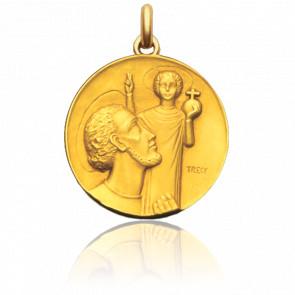 Medalla San Cristóbal de Trécy Oro Amarillo 18K