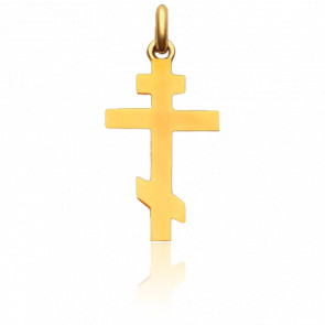 Cruz Ortodoxa Oro Amarillo 18K
