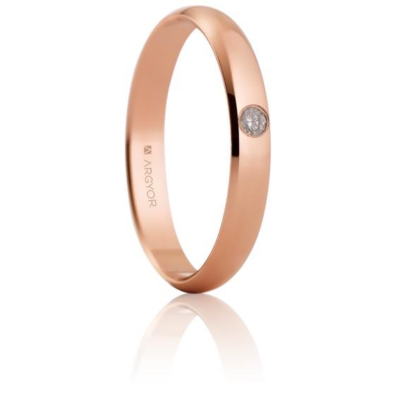 b91011ee Anillo de boda Oro Rosa Diamante incrustado Argyor - Ocarat