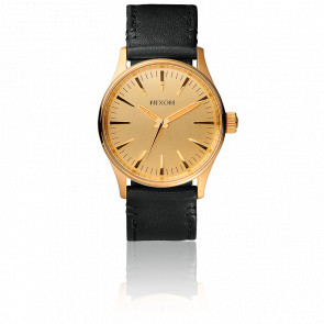 Reloj The Sentry 38 Leather Gold/Black A377-513
