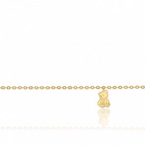 Pulsera Osito Oro Amarillo 18K