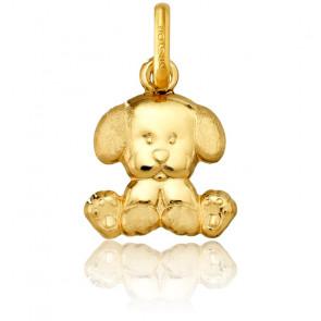Colgante Perrito de Oro Amarillo 9k