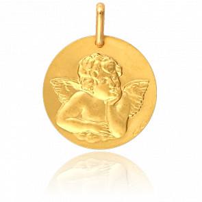 Medalla Ángel de Rafael Oro Amarillo 18K