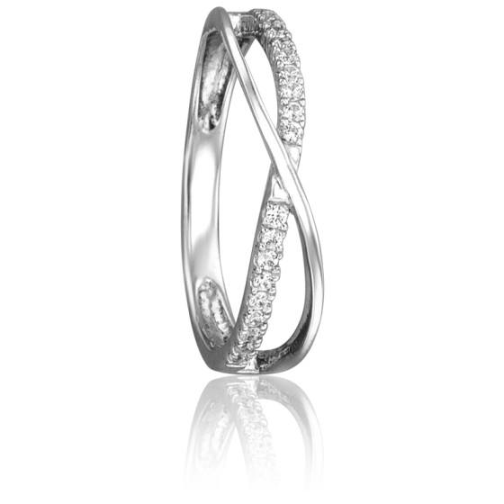 c7cb12e1cfed Anillo Oro Blanco 18k con Diamantes con bandas - Juweel - Ocarat