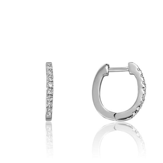 0a8ef5658362 Pendientes de aros Oro Blanco y Diamantes - Juweel - Ocarat